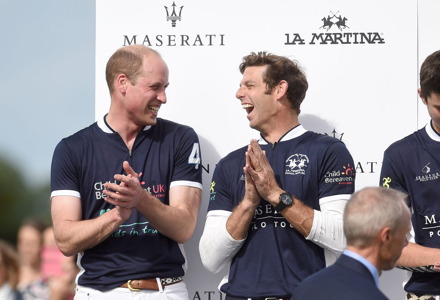 Prince William plays polo for charity at Maserati tour leg; La Martina designs commemorative shirts