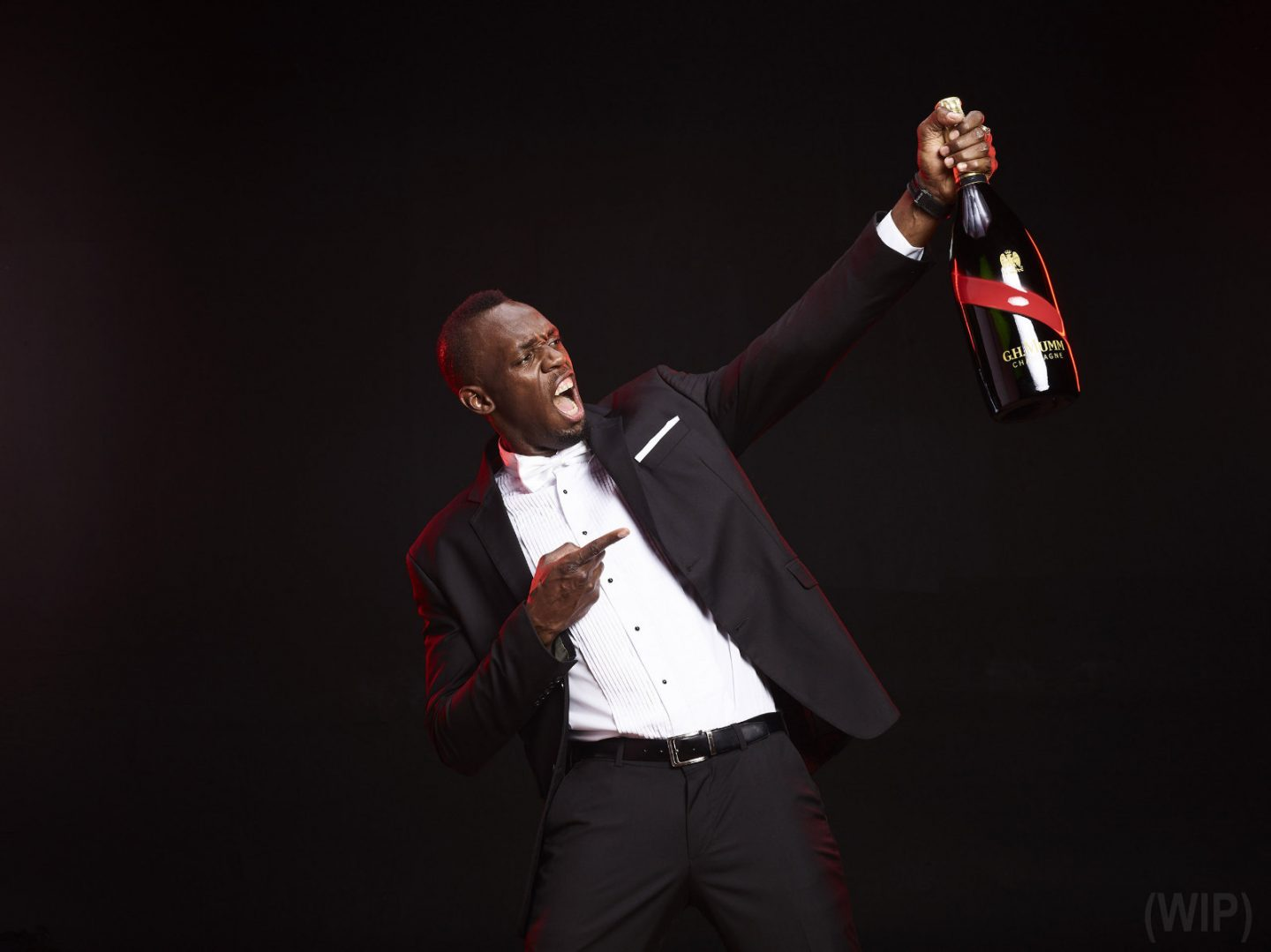 Usain Bolt celebrates with Maison Mumm in latest spot featuring Yendi Philipps