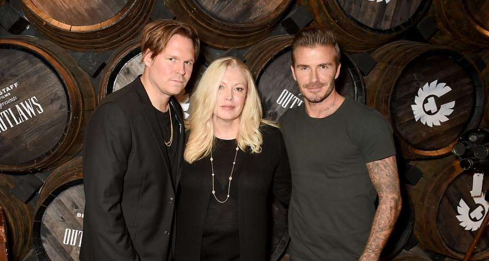 David Beckham launches his film for Belstaff, <i>Outlaws</i>, in London