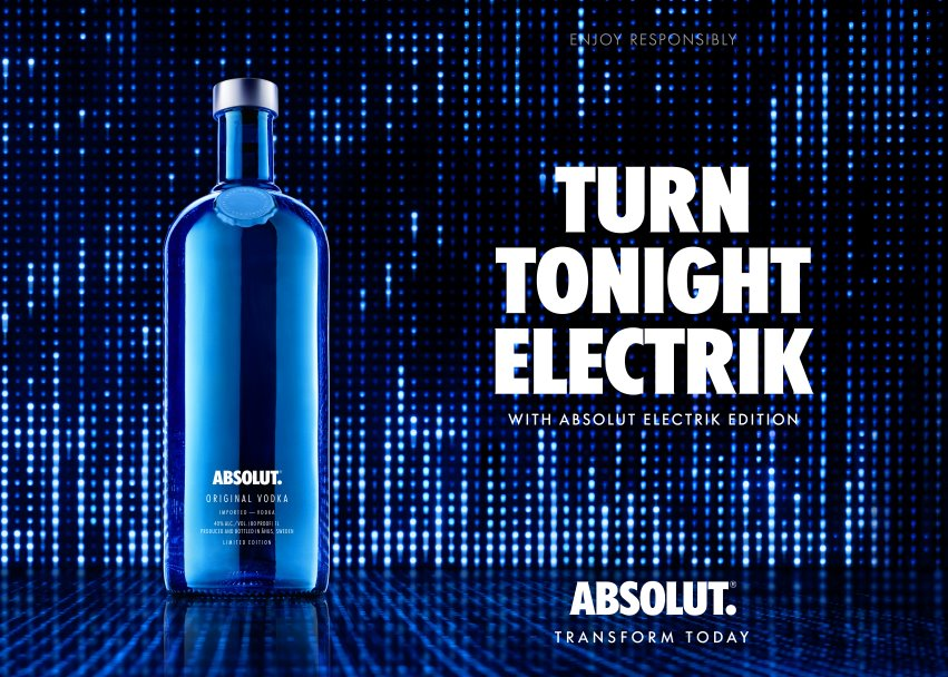 Absolut releases dazzling limited-edition Electrik bottles to close 2015
