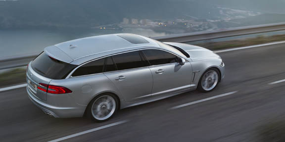 Jaguar shows XF Sportbrake ahead of Salon de Genève: saloon-like handling promised