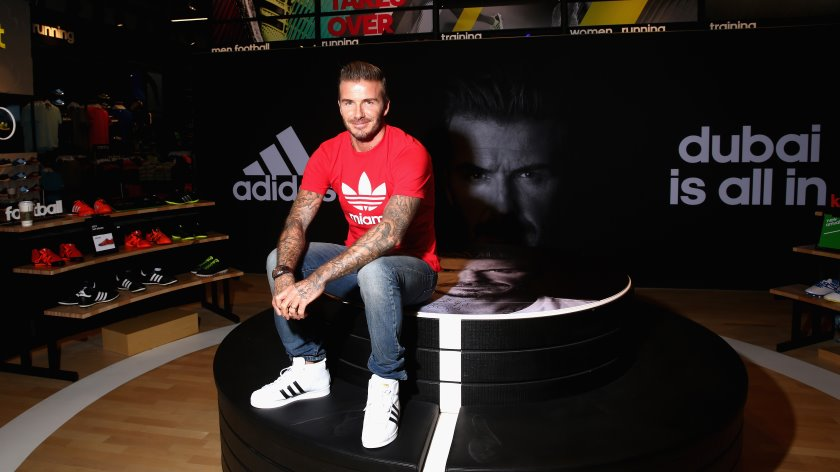 David Beckham opens Adidas' flagship Dubai Homecourt store at the Mall of Emirates