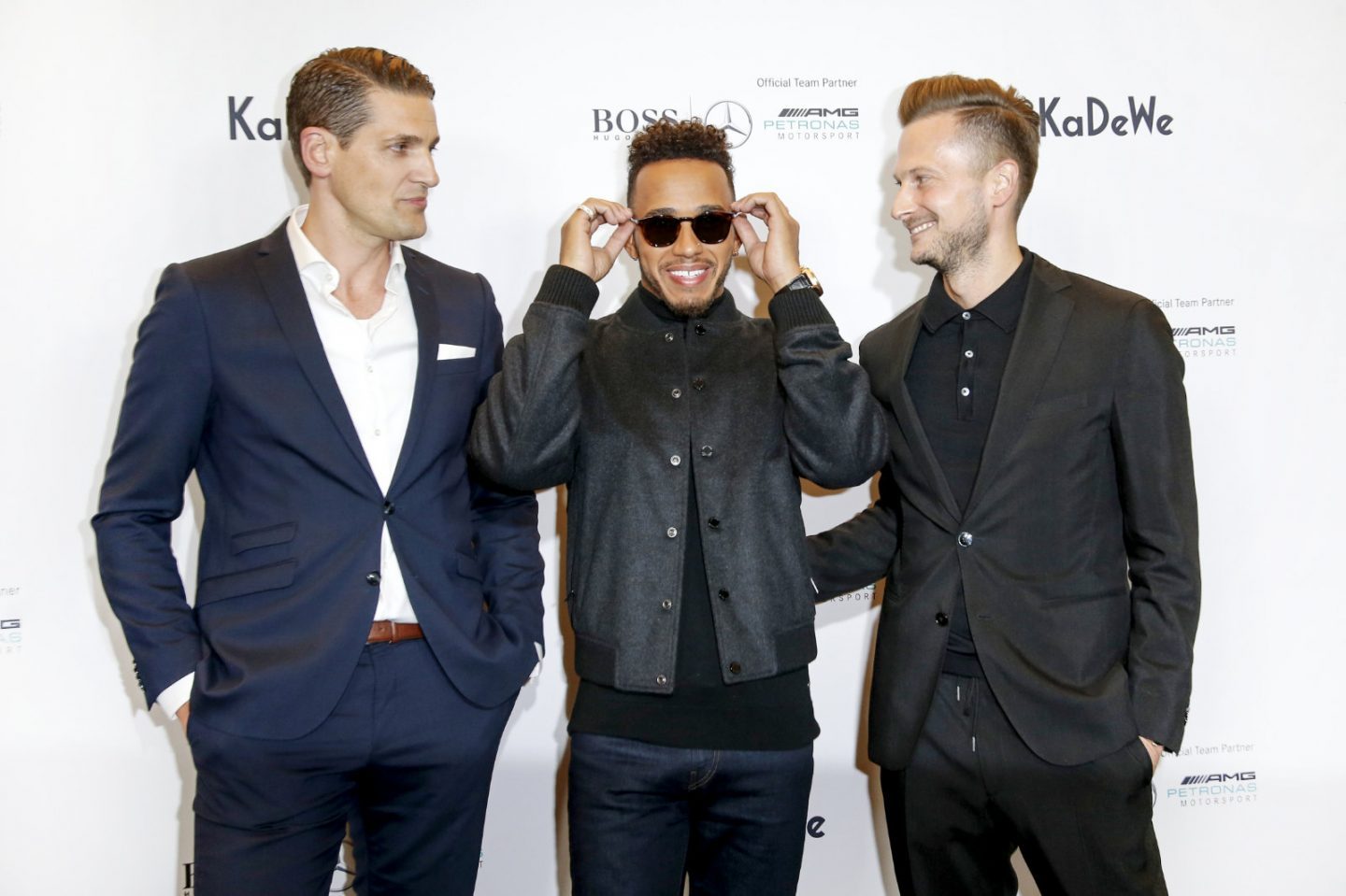 Lewis Hamilton speaks at VIP event for KaDeWe and Hugo Boss