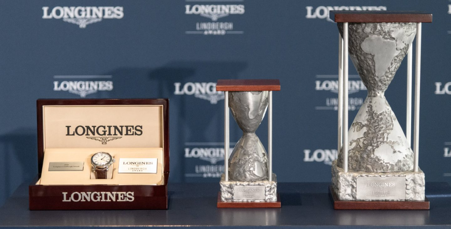 Longines awards first Lindbergh prize to the aviator's grandson, Erik Lindbergh
