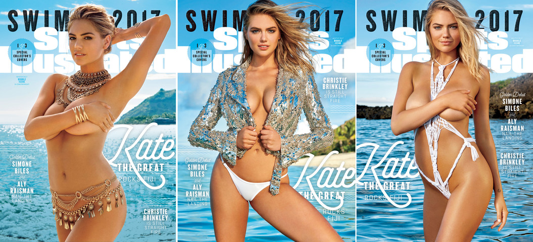 Kate Upton's on three covers for <i>Sports Illustrated</i> Swimsuit Issue 2017, photographed by Yu Tsai